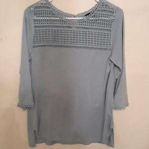 H&M top with a crochet top portion, 3/4 sleeve
